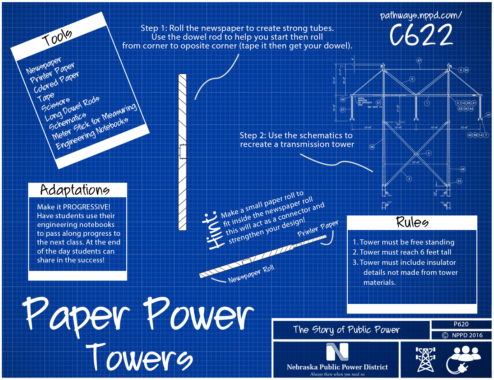 Paper power towers nppd pathways paper power tower malvernweather Choice Image